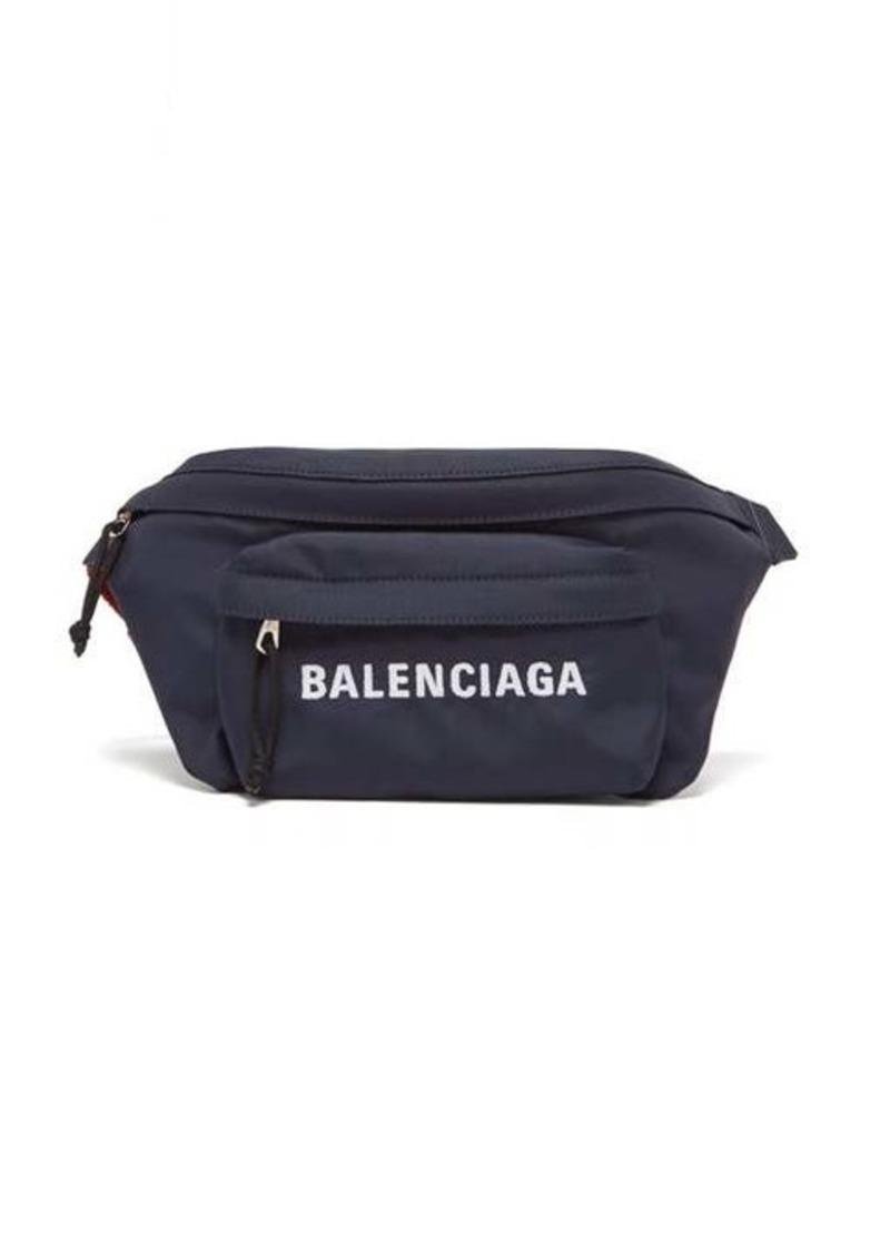 Balenciaga Wheel logo-embroidered belt bag