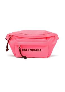 Balenciaga Wheel S logo-embroidered belt bag