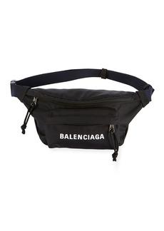 Balenciaga Wheel Small Nylon Logo Belt Bag