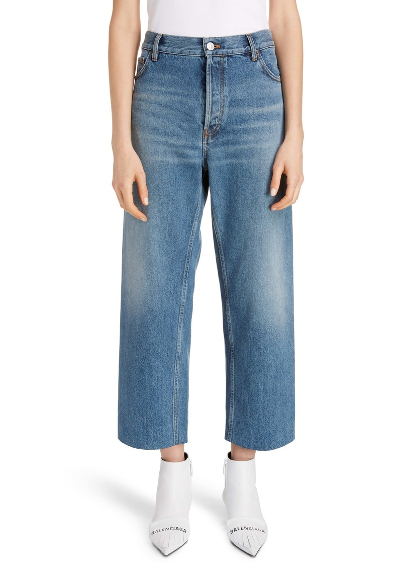 Balenciaga Wide Leg Crop Jeans