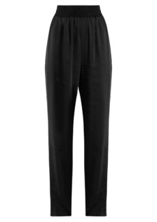Balenciaga Wide-leg satin-twill trousers