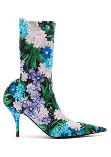 Balenciaga Wild flower-printed knife bootie