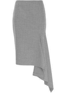 Balenciaga Woman Asymmetric Houndstooth Woven Skirt Black