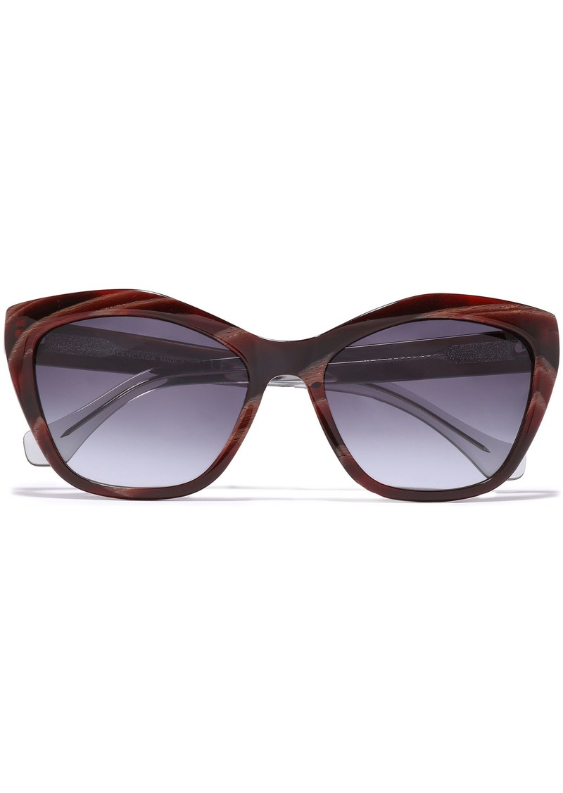 Balenciaga Woman Cat-eye Acetate Sunglasses Merlot