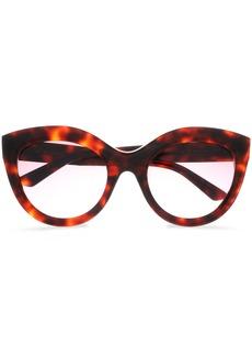 Balenciaga Woman Cat-eye Tortoiseshell Acetate Sunglasses Brown