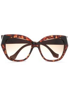 Balenciaga Woman Cat-eye Tortoiseshell Acetate Sunglasses Dark Brown