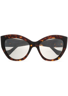 Balenciaga Woman Cat-eye Tortoiseshell Acetate Sunglasses Dark Brown