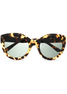 Balenciaga Woman Cat-eye Tortoiseshell Acetate Sunglasses Light Brown
