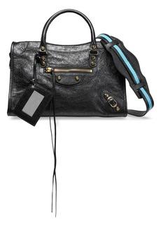 Balenciaga Woman Classic City Small Textured-leather Tote Black