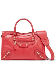 Balenciaga Woman Classic City Textured-leather Tote Red