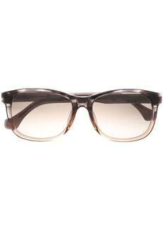 Balenciaga Woman D-frame Acetate Sunglasses Black