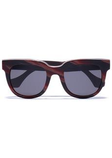 Balenciaga Woman D-frame Acetate Sunglasses Merlot