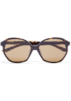 Balenciaga Woman Oversized Round-frame Tortoiseshell Acetate Sunglasses Brown
