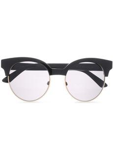 Balenciaga Woman Round-frame Acetate And Gold-tone Sunglasses Black