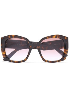 Balenciaga Woman Square-frame Acetate Sunglasses Dark Brown
