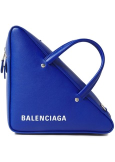 Balenciaga Woman Triangle Duffle Textured-leather Tote Royal Blue