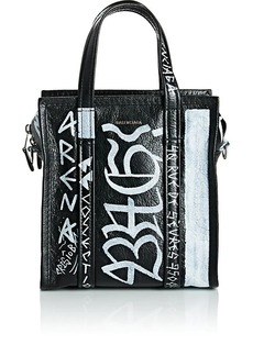 Balenciaga Women's Arena Leather Bazar Extra-Small Shopper Tote Bag - Black