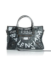 Balenciaga Women's Arena Leather Classic City Bag - Gray