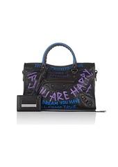 Balenciaga Women's Arena Leather Classic City Small Bag - Black