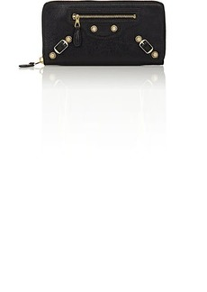 Balenciaga Women's Arena Leather Giant Continental Wallet - Nero