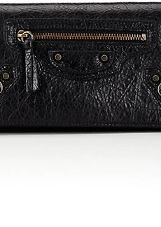 Balenciaga Women's Arena Leather Money Wallet - Nero
