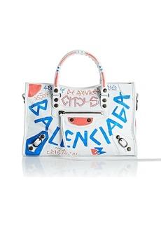 Balenciaga Women's Arena Leather City Small Bag - White
