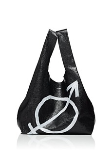 Balenciaga Women's Arena Leather Supermarket Shopper Tote Bag - Black