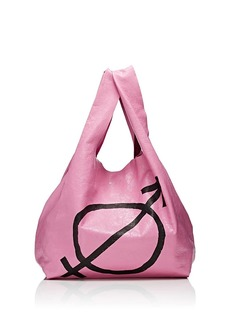 Balenciaga Women's Arena Leather Supermarket Shopper Tote Bag - Pink
