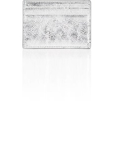 Balenciaga Women's Bazar Arena Leather Card Case - Silver
