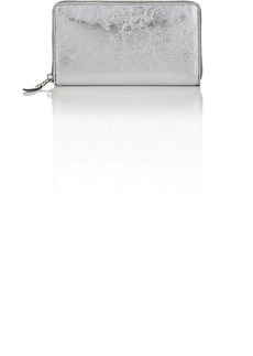 Balenciaga Women's Bazar Arena Leather Continental Wallet - Silver