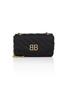 Balenciaga Women's BB Round Quilted Jacquard Shoulder Bag