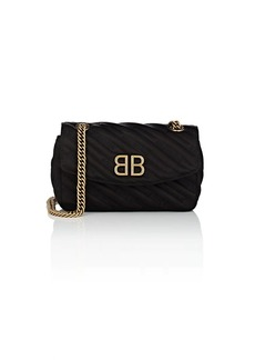 Balenciaga Women's BB Small Logo-Jacquard Shoulder Bag - Black