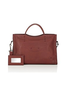 Balenciaga Women's Blackout City AJ Bag - Bordeaux