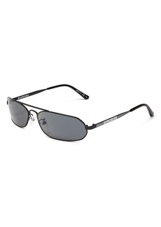 Balenciaga Women's Brow Bar Rectangular Sunglasses, 61mm