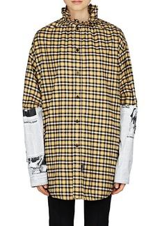 Balenciaga Women's Checked Flannel Oversized Shirt