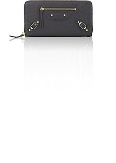 Balenciaga Women's Classic Zip-Around Continental Wallet - Gris Fossile
