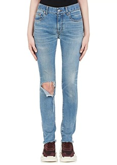 Balenciaga Women's Distressed Slim Straight Jeans