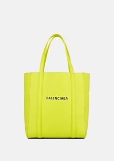 Balenciaga Women's Everyday Extra-Extra-Small Leather Tote Bag - Green