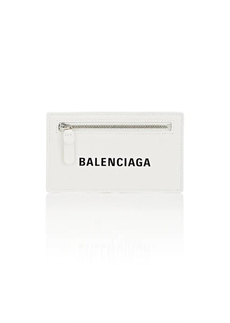 Balenciaga Women's Everyday Logo Card Case - White