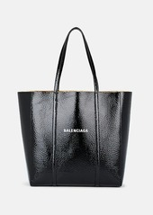 Balenciaga Women's Everyday Small Patent Leather Tote Bag - Black