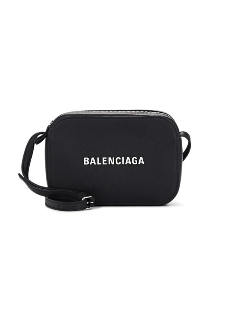 Balenciaga Women's Everyday XS Leather Camera Bag - Black