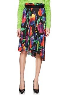 Balenciaga Women's Floral Plissé Crepe Skirt