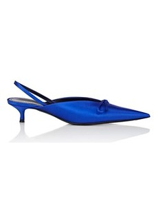 Balenciaga Women's Knife Satin Slingback Pumps