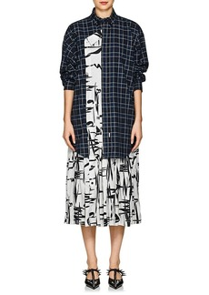 Balenciaga Women's Layered-Look Silk & Cotton Dress