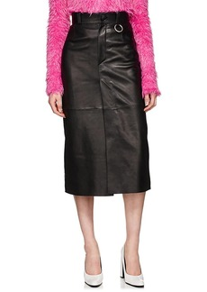 Balenciaga Women's Leather Pencil Skirt