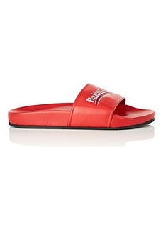 Balenciaga Women's Leather Slide Sandals