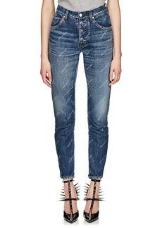 Balenciaga Women's Logo-Print Slim Jeans