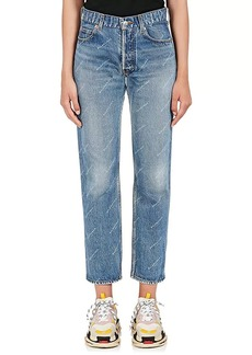 Balenciaga Women's Logo-Print Straight Jeans
