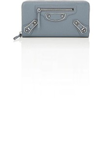 Balenciaga Women's Metallic Edge Zip-Around Continental Wallet