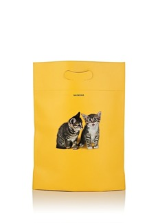 "Balenciaga Women's ""Plastic Bag"" Small Leather Shopper Tote Bag - Yellow"